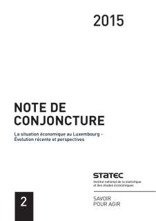 Note de Conjoncture 2-2015