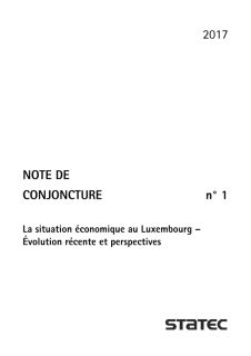 Note de conjoncture 1-2017